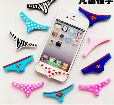Sexy 2pcs Underwear Thong Soft Silicone Home Button Case Cover For iPhone6 /5/5S