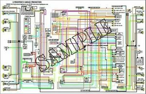 Ford Mustang 1971 Color Wiring Diagram 11 X 17 Ebay