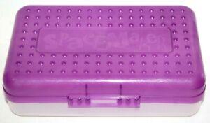 Space Maker Clear Plastic Pencil Box Case School Home Office Newell Eldon  18421546021 | eBay