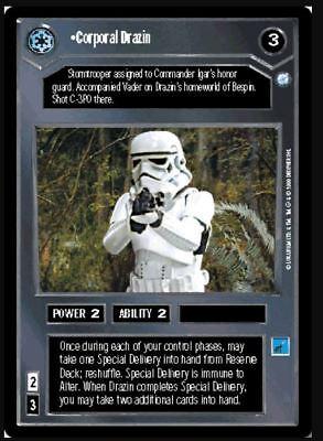 Star Wars CCG Endor Corporal Drazin NrMint-MINT SWCCG