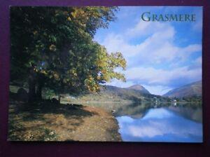 POSTCARD-CUMBRIA-GRASMERE-NICE-VIEW-ALONG-THE-LAKE