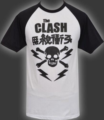 MENS RAGLAN BASEBALL T-SHIRT THE CLASH SKULL JAPAN JAPANESE PUNK ROCK 1977 S-2XL