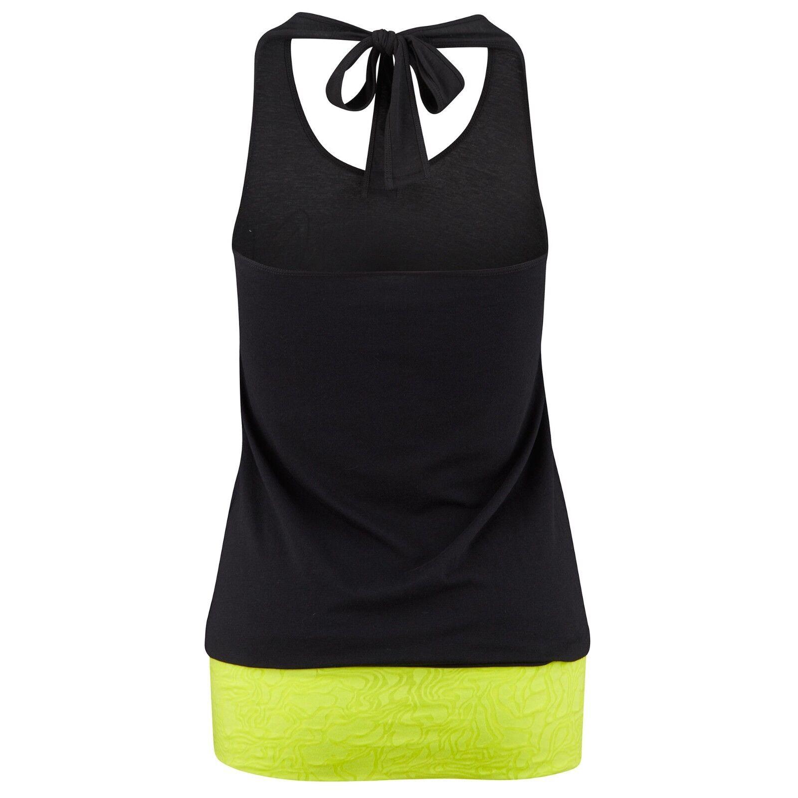Zumba Fitness  Burbuja Halter  Prenda Prenda Prenda para el torso Camiseta Tanque  Corte para arriba para nervioso Look XS S M Z1T00410 123990