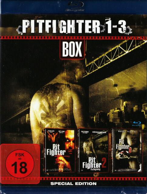 Pit Fighter 1 - 3 - BluRay mit allen 3 Teilen - mit Steven Bauer, Scott Adkins