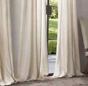 NWT~Restoration Hardware100x108 Wash Belgian Flax Linen Window Panel-Retail $468