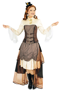 Damenkostuem-Steampunk-Viktoria-Gr-40-42-Karnevalkostuem-Faschingskostuem
