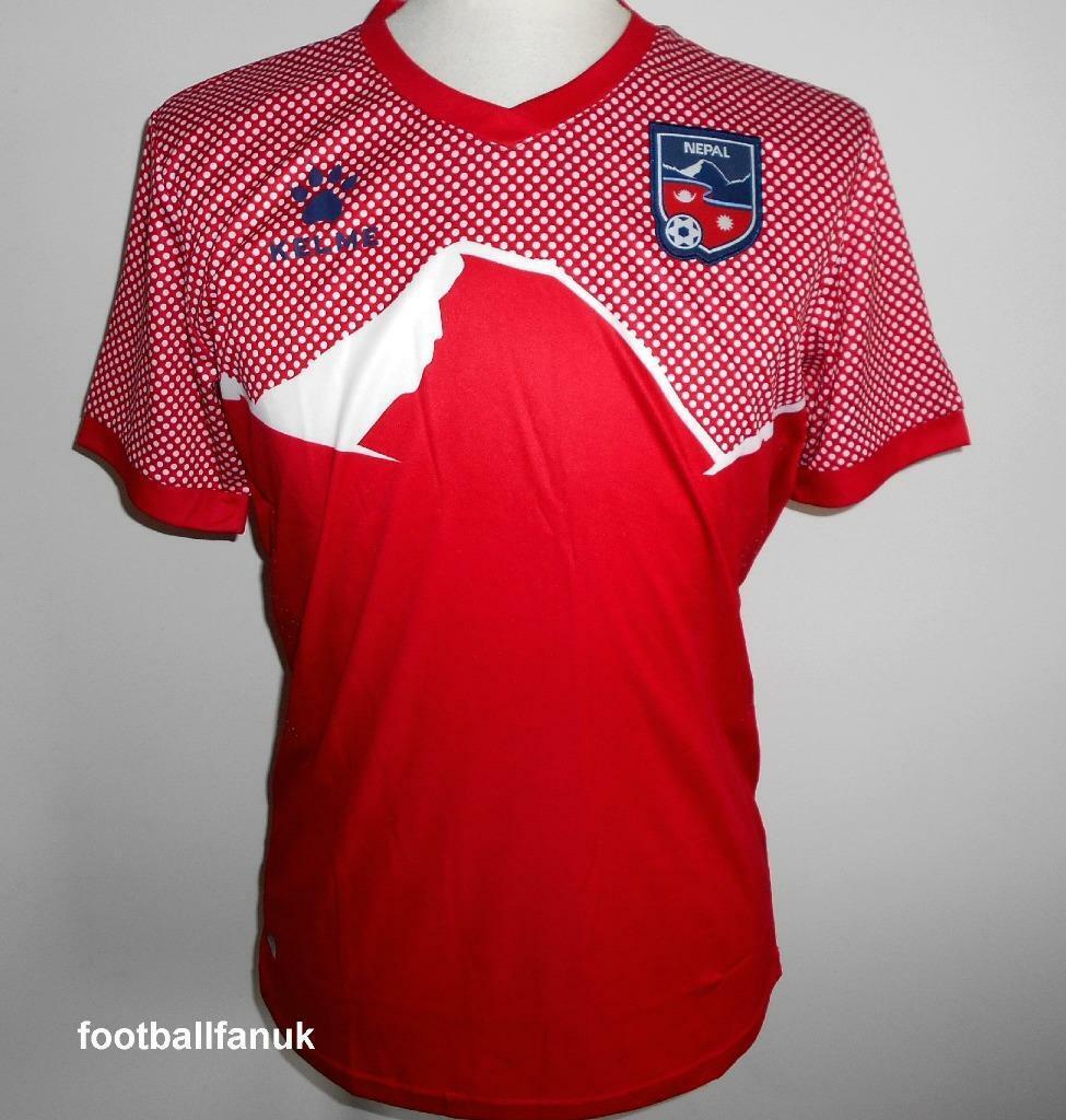 Nepal Ufficiale Kelme Trasferta da Calcio Maglietta 20192020 Nuovo Uomo Taglie