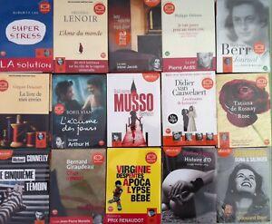 Bon Plan --> Lot 10 Livres Audio Audiolib Au Choix (neuf)