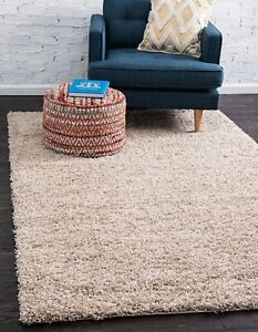 Details About Small Bedroom Rug 4x6 Solid Shag Modern Plush Area Rectangle 1 Thick Taupe