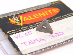NEW-SURPLUS-2PCS-VALENITE-TNMG-322-GRADE-VC55-CARBIDE-INSERTS