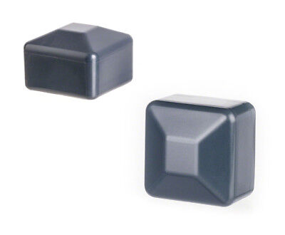 5 Caps Anthracite Post End Cap Square Plastic Fence Cover Tube Plug External