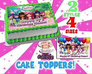 Details About Strawberry Shortcake Cake Topper Edible Picture Sugar Sheet Image Paper Transfer