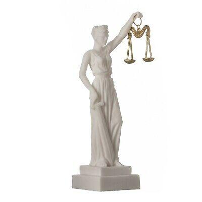 Blind Lady Justice Statue Sculpture Greek Roman Goddess of Justice Figurine