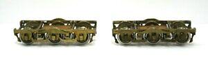 Pair-Brass-O-Scale-2-Rail-6-Wheel-Passenger-Trucks