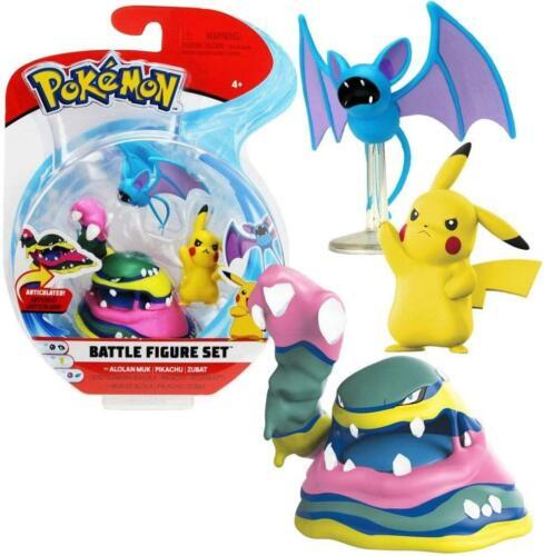PIKACHU /& ZUBAT-Neuf Pokemon 3 Figure Battle Pack-ALOLAN MUK