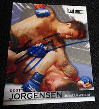 Scott Jorgensen Signed 2010 UFC Topps Knockout Rookie Card #115 Autograph RC WEC