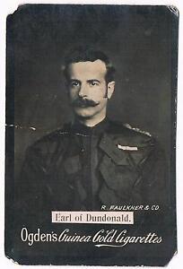 Vintage-Ogden-039-s-Guinea-Gold-Cigarettes-Earl-Of-Dundonald-Tobacco-Card