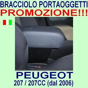 PEUGEOT-207-207CC-CC-bracciolo-con-portaoggetti-vedi-ns-tappeti-auto