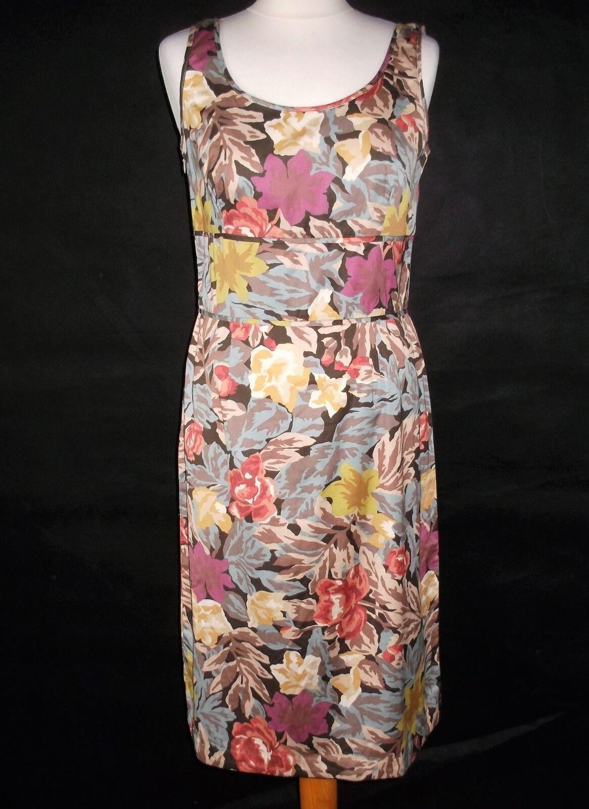 PERUVIAN CONNECTION Vestido Ceñido De Algodón Pima Pima Pima Estampado De Flores Talla 8 e77992