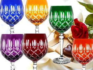 farbige Kristall Weingläser Bleikristall Römer Wein Gläser 6er Set 372Karoli