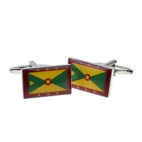 Grenada Flag Cufflinks Presented in a Cufflink Box X2BOCF151