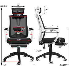 Ergonomic Office Chair Mesh High Back Recliner Computer Desk Seat Footrest New