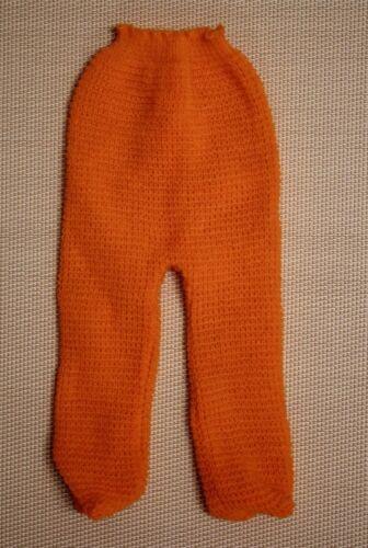 unbespielt Vintage Puppenstrumpfhose orange