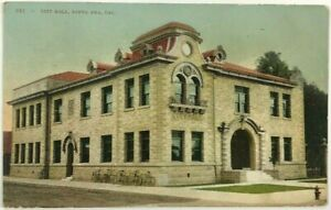 Postcard City Hall Santa Ana California CA Building Street View 1900's 1910's