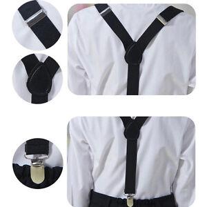 Kids-Children-Toddler-Clip-on-Suspenders-Elastic-Adjustable-Braces-Colorful