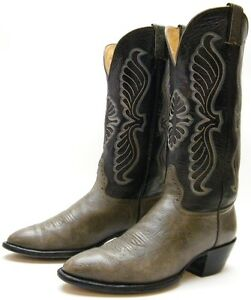 970b0a15aeb Details about MENS VINTAGE HONDO TALL GREY GRAY LEATHER COWBOY WESTERN  BOOTS SZ 9.5~1/2 D