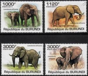 Consciencieux Éléphant Africain (loxodonta Africana) Animal Sauvage Stamp Set (2011 Burundi)-afficher Le Titre D'origine
