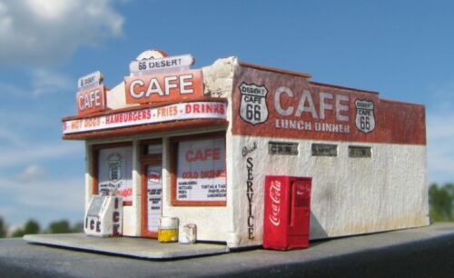 Z Scale Route 66 Desert Cafe Kit by Showcase Miniatures 4702