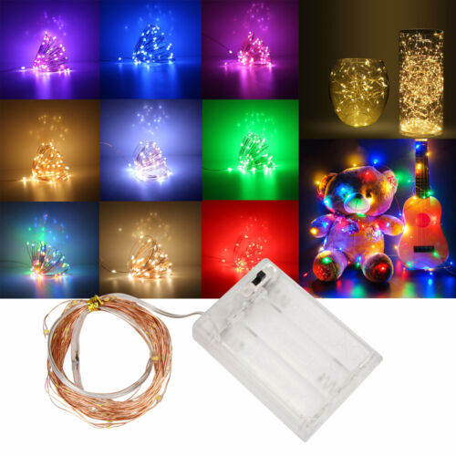 LED String Copper Wire Fairy Lights Battery Powered Xmas Party DIY Light RC1083