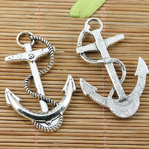 3pcs Tibetan silver nice anchor charms EF2058