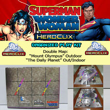 "HEROCLIX SUPERMAN WONDER W OP KIT: Mapa/Map ""Mount Olympus"" ""The Daily Planet"""