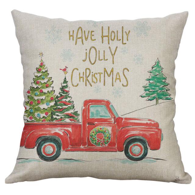 """18/"""" Cotton Linen gilding Christmas Pillow Case Cushion Cover Home Decor"""