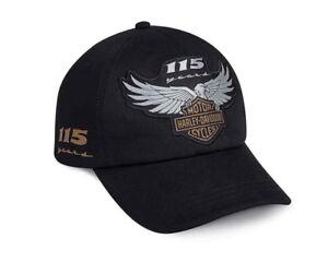 HARLEY DAVIDSON 115TH ANNIVERSARY MENS HAT BALL CAP   NEW   BASEBALL ... d83e6b2eb5c
