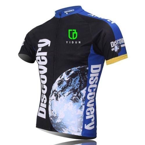 Discovery Channel Cycling Jersey Men/'s Short Sleeve Biking Jersey Shirt S-5XL