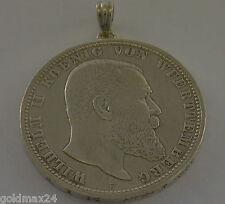 5 Mark Deutsches Reich Wilhelm II. König von Württemberg 1899 F