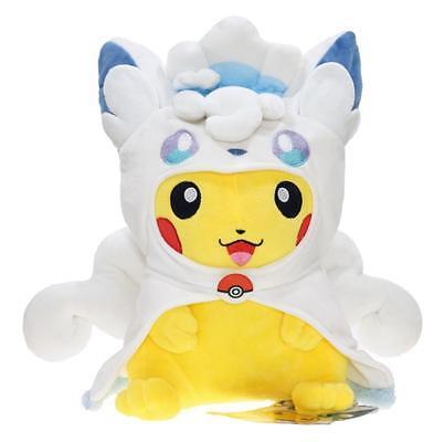 "Pokemon Center Alola Vulpix Pikachu Stuffed Plush Toy Animal Doll 12"" New"