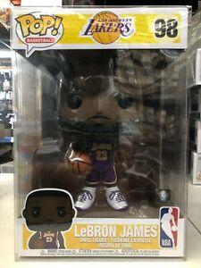 Details about Funko POP! NBA LA Lakers LeBRON JAMES Purple Jersey 10 Inch #98 w/ Protector