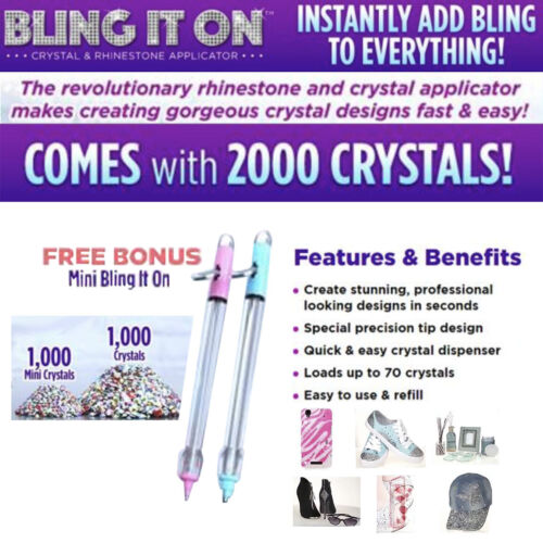 Bling It On Crystal /& Rhinestone Applicator