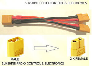 RC-XT60-harness-battery-splitter-lead-1-male-2-female-for-cars-boats-amp-planes