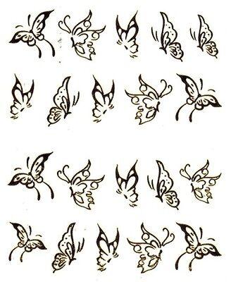 One Stroke Sticker,Gold, Schmetterling ,Tattoo, Aufkleber  Nr.1378
