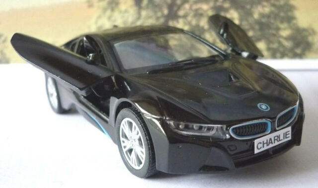 Personalised Plate Gift Black Bmw I8 Boys Dad Toy Model Car Birthday
