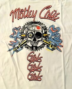 MOTLEY-CRUE-cd-lgo-VINTAGE-SPARKPLUG-Girls-Girls-Girls-Official-SHIRT-XL-New-OOP