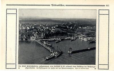 Knowledgeable Luftschiffaufnahme Von Friedrichshafen Mit Bodenseedampfern Von 1910 Transport