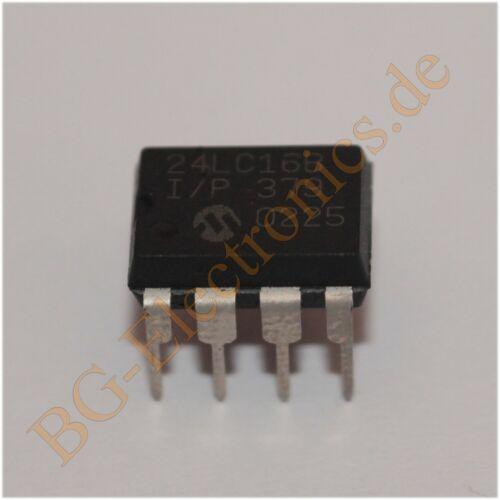 2 x 24LC16BI P 16K IIC Series EEPROM 24LC16BI//P Microchip DIP-8 2pcs