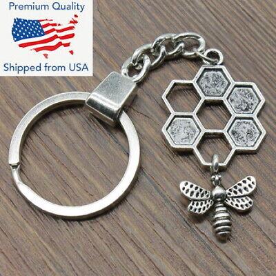 "Car Auto Logo Jaguar Charm Silver Leopard Pendant Keychain Key Chain Gift 3.25/"""