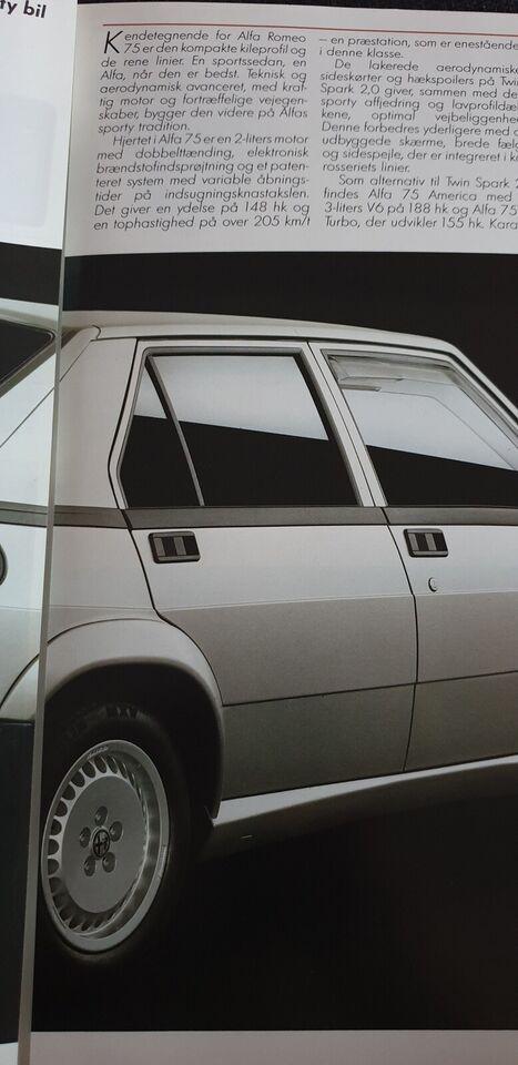 Brochure, Alfa Romeo 75